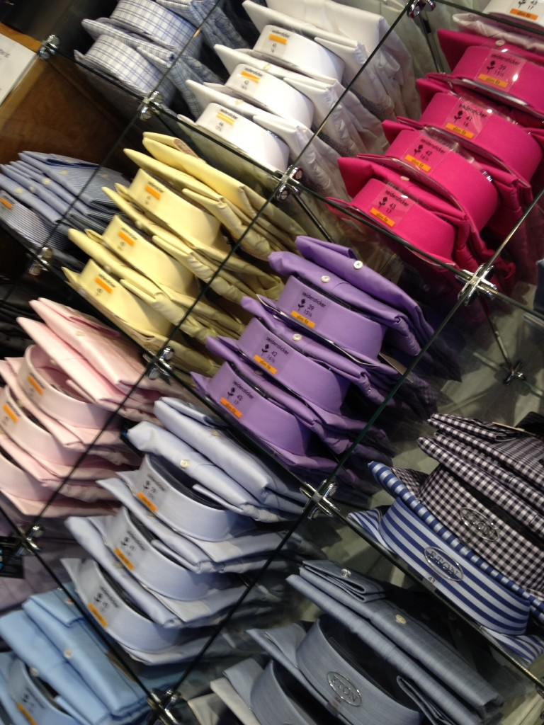 Charles Stuart Menswear shirt colours