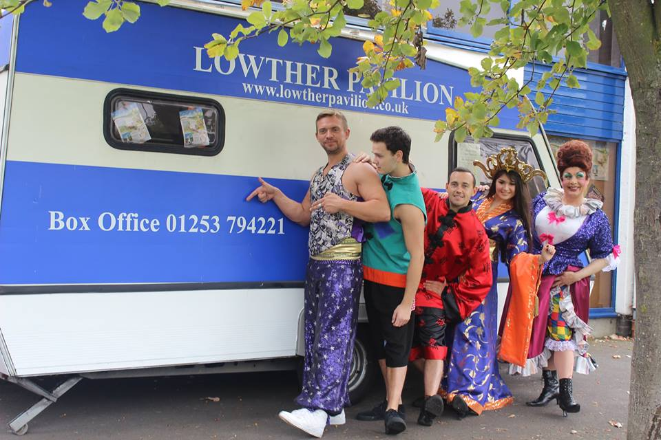 Cast of Aladin at Lowther Pavilion
