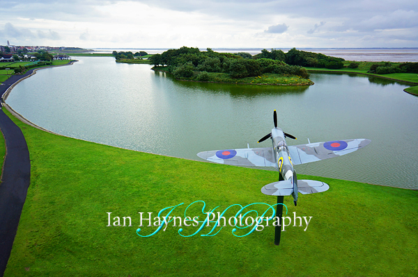 Fairhaven Lake and the Spitfire Memorial