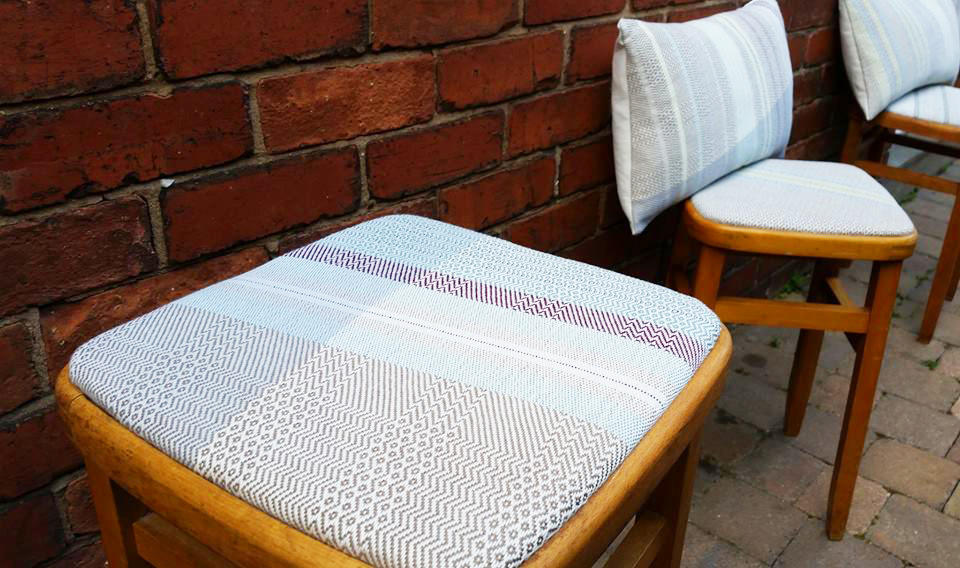 Yarn to Cloth handmade stool and chair covers