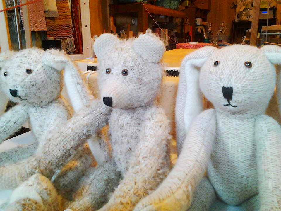 Yarn to Cloth handmade teddies