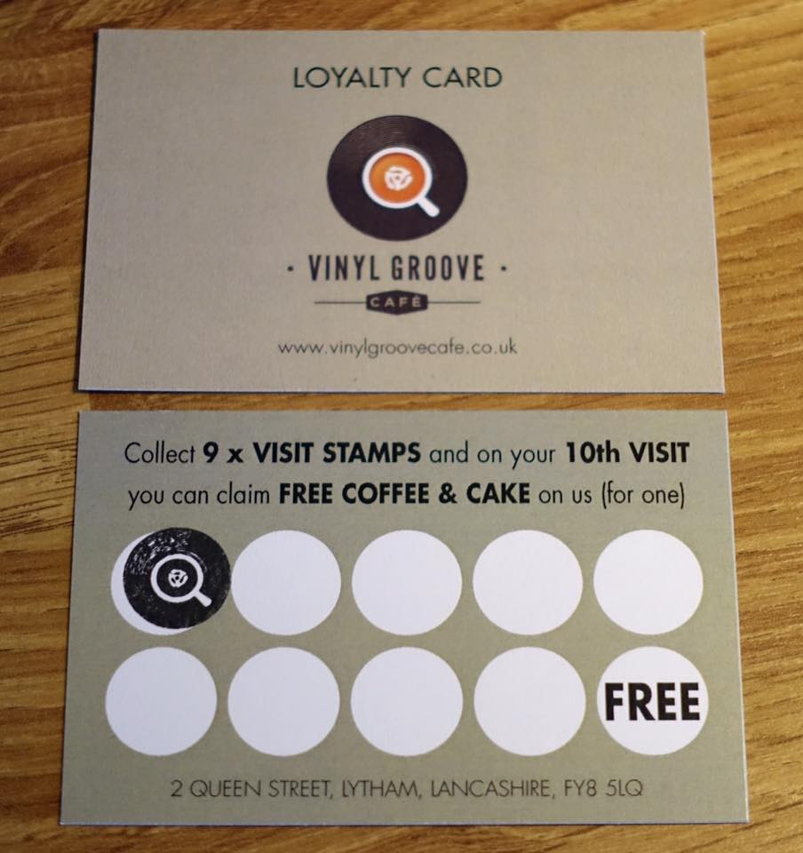 vinyl groove cafe Lytham loyalty card