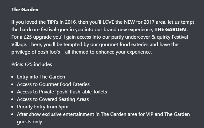 The Garden at Lytham Festival 2017