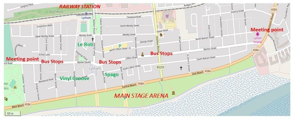 Local map for Lytham Festival