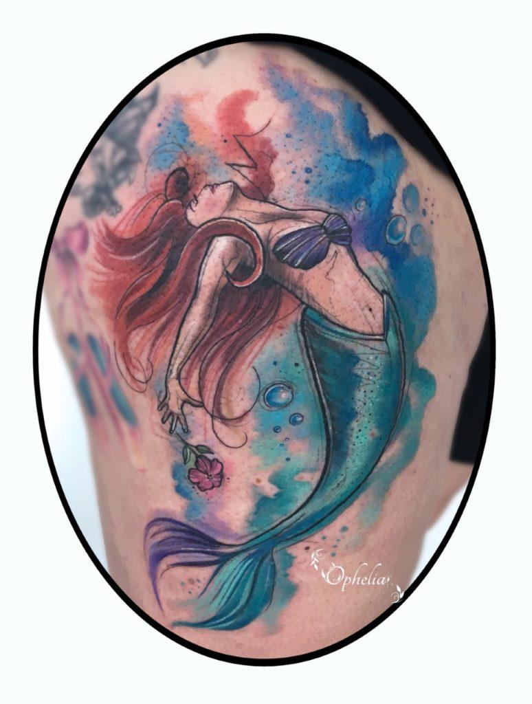 Fantasy Mermaid Tattoo Ophelia Lytham