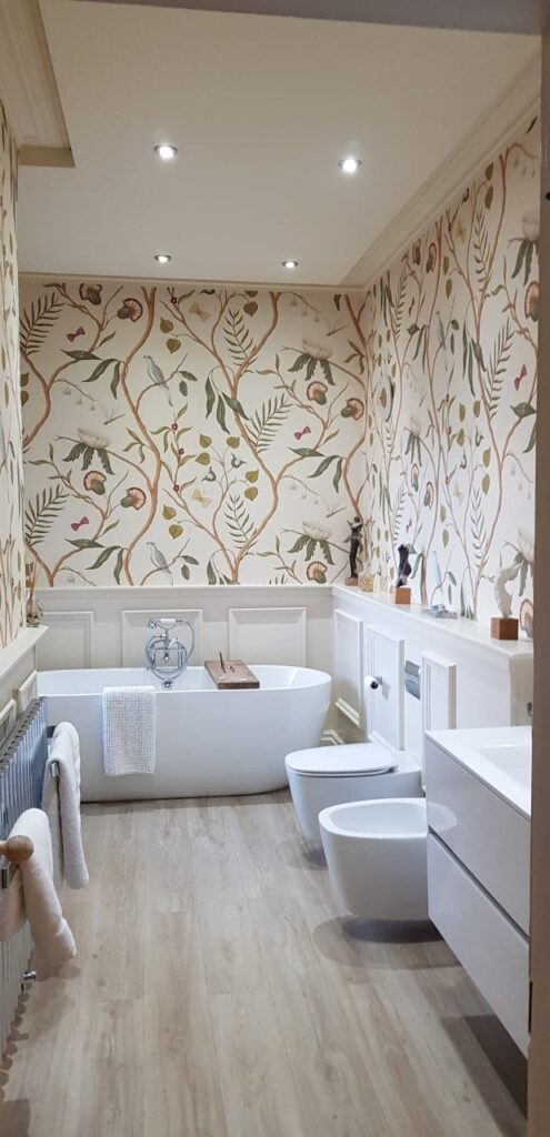 fine lines decorating services Lytham bathroom