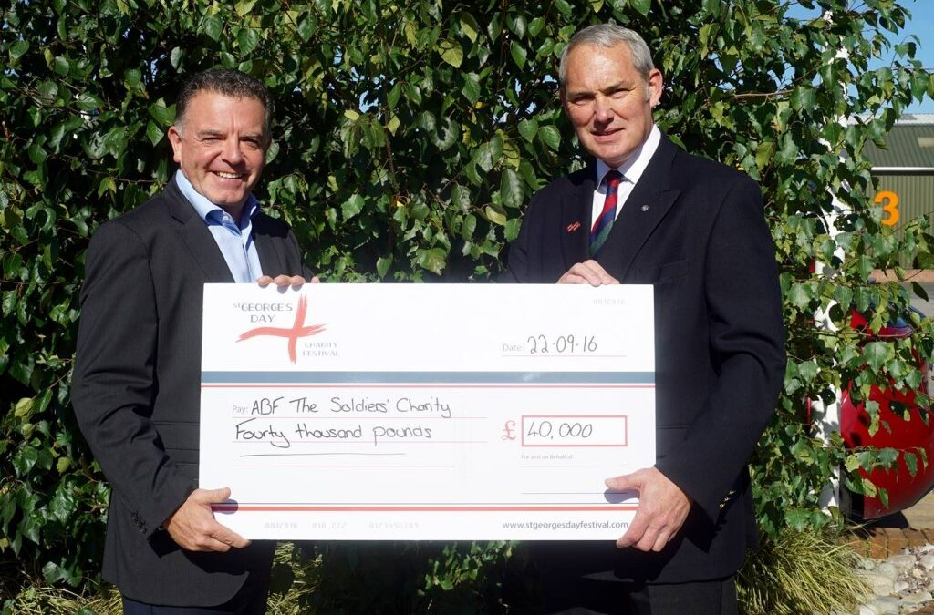 The Soldiers Charity benefiting from St Georges Day Festival